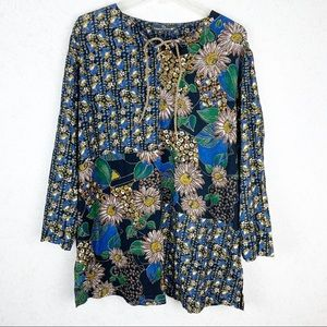 Carole Little boho floral tunic